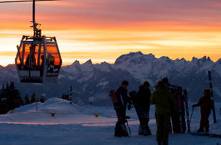 Villars fondue in the sky