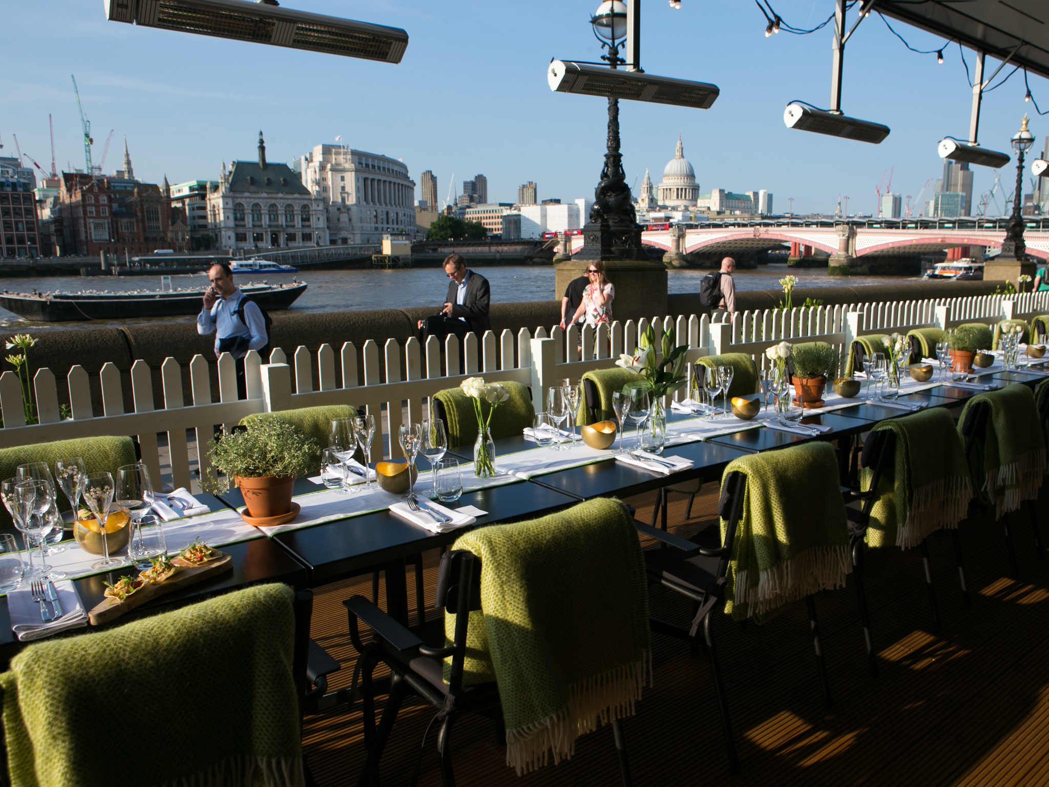 Riverside restaurants in London