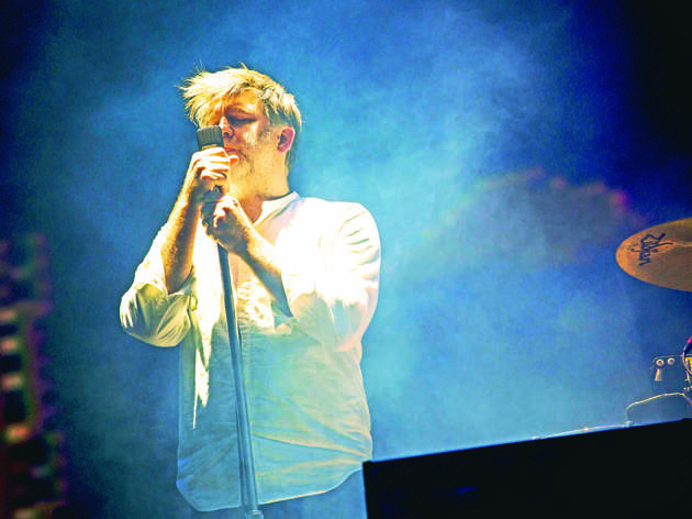 LCD Soundsystem performs on the Coachella Stage at the 2016 Coachella Valley Music and Arts Festival.