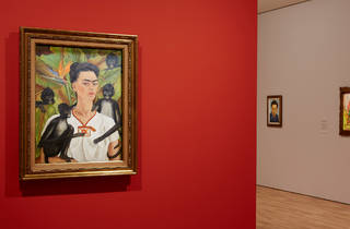 Frida Kahlo and Diego Rivera From the Gelman Collection 2016 Art Gallery of NSW installation view 02 feat image Self Portrait with Monkeys 1943 c AGNSW