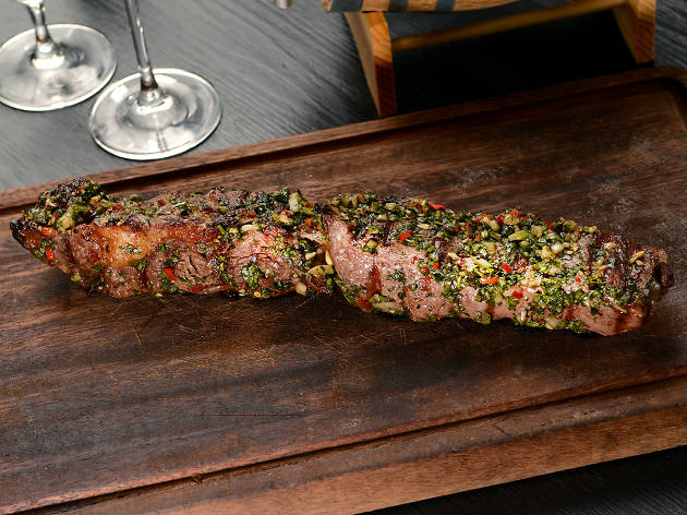 Flam-grilled Argentinian steak