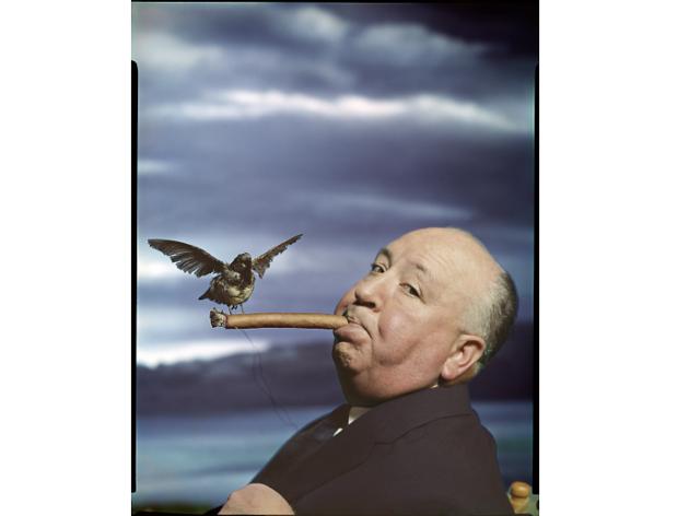 Philippe Halsman, Retrat d'Alfred Hitchcock per a la promoció de la pel·lícula 'The Birds'