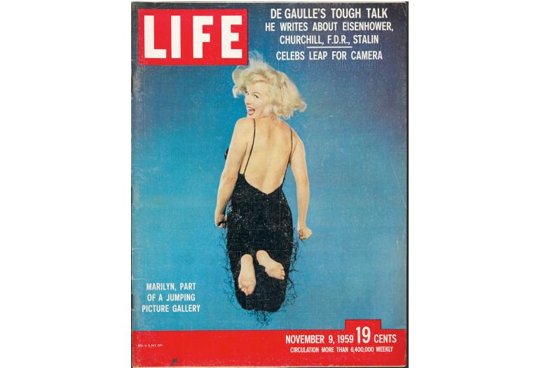 Portada de LIFE amb el «salt» de Marilyn Monroe