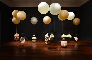 Gravity and Wonder 2016 Penrith Regional Gallery promo image of Amy Joy Watson 2013 Floating Sequence installation view courtesy Art Gallery of South Australia