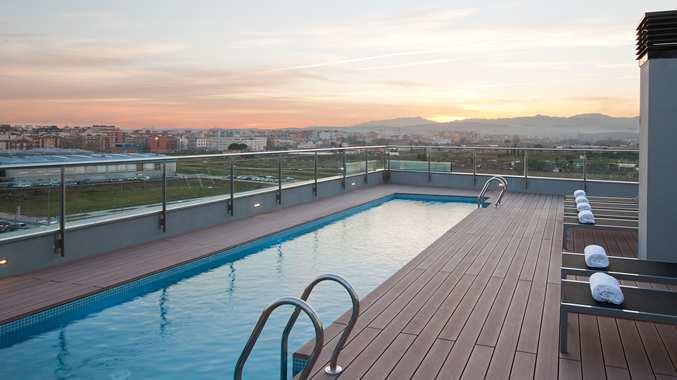 La terrassa del DoubleTree Hilton