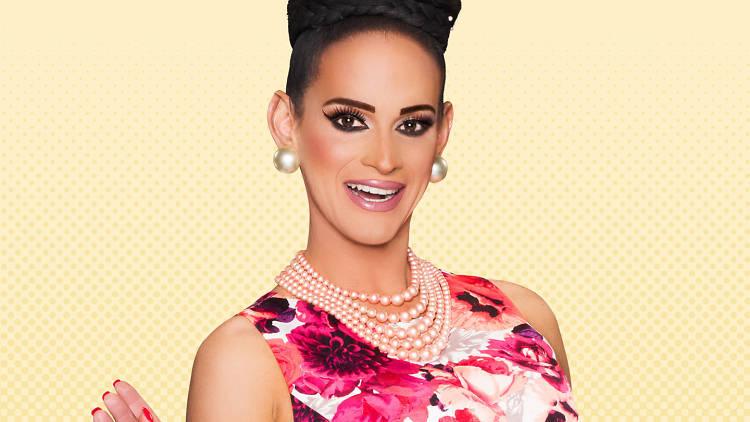 LA drag Cynthia Lee Fontaine, participante de la octava temporada de RuPaul's Drag Race por primera vez en la Ciudad de México