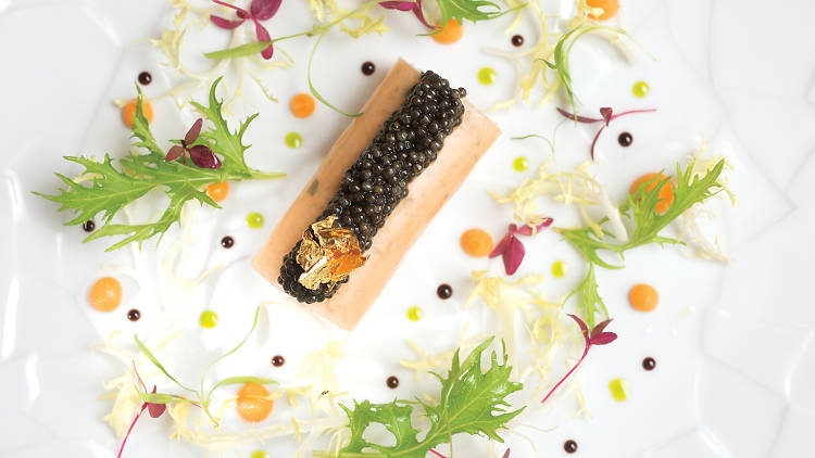 Brittany crab meat with a delicate pomelo jelly and imperial French caviar