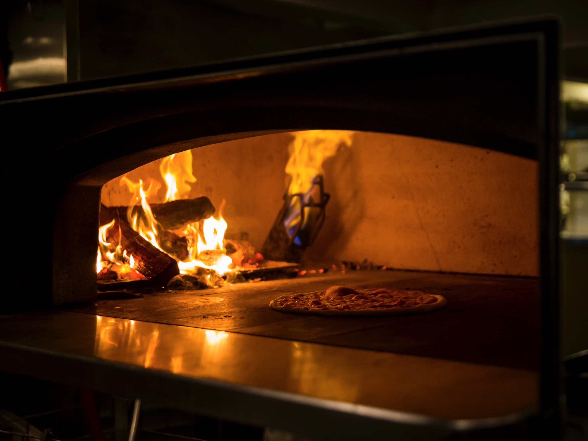 Pizza oven at The Dolphin Hotel