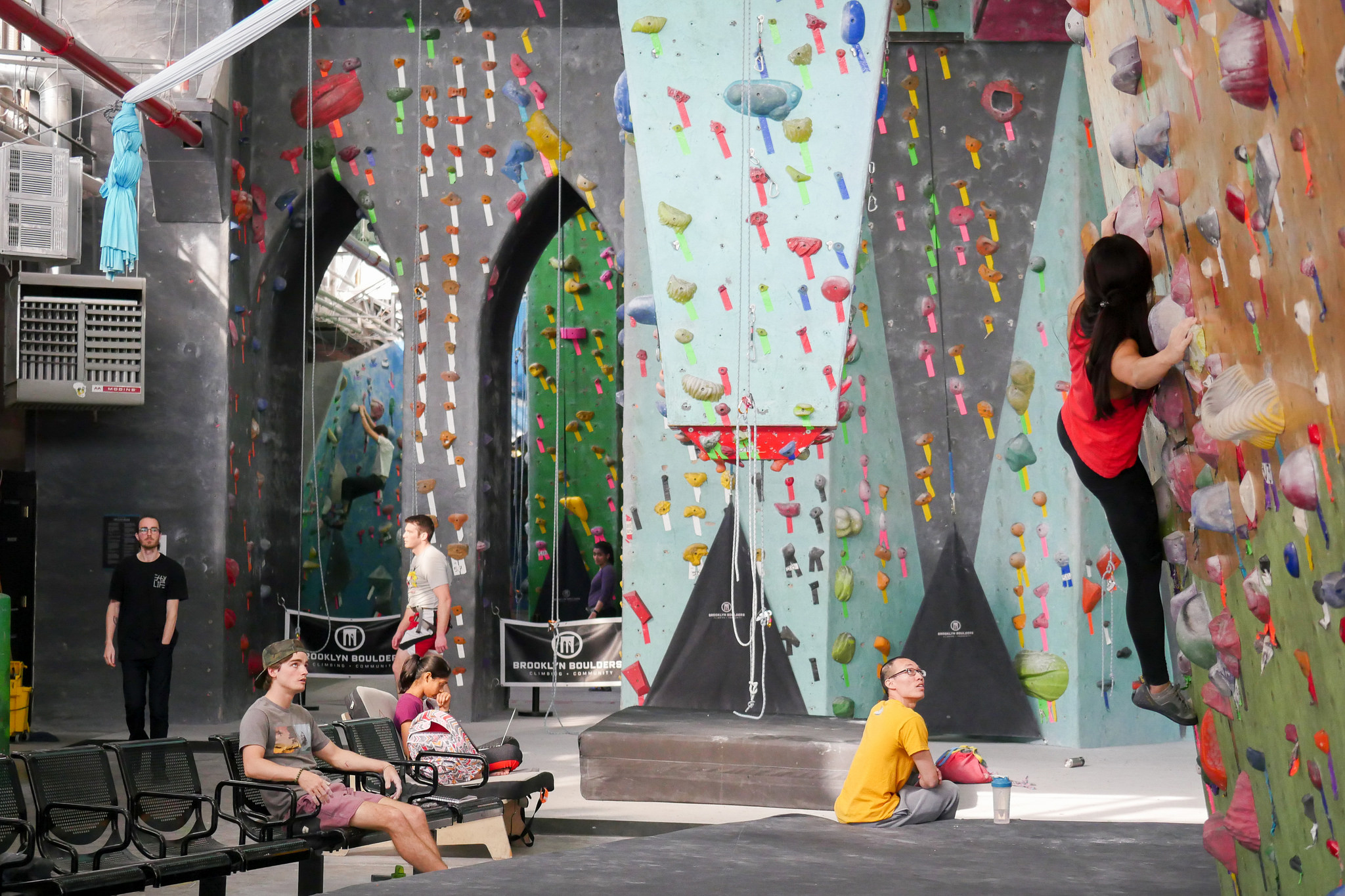 Make the climb at Brooklyn Boulders