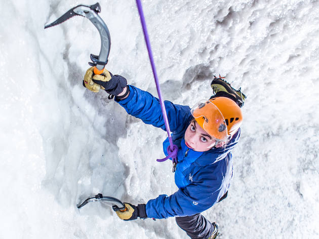 Get to grips with a massive wall of ice
