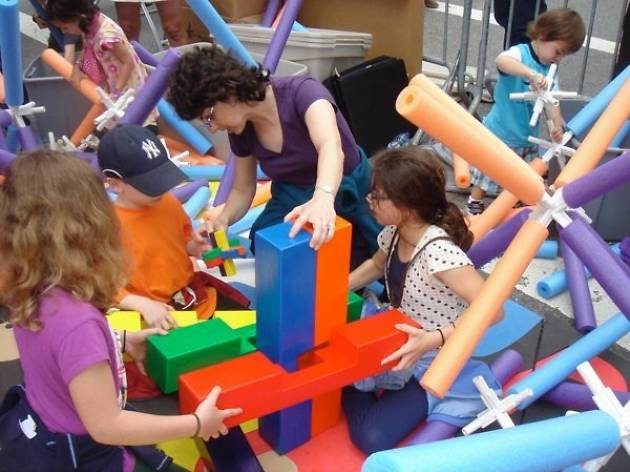 Family Fridays at MoMath: Wood, Magnets, Playdough, and Space