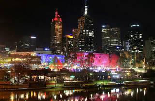 Melbourne skyline at night