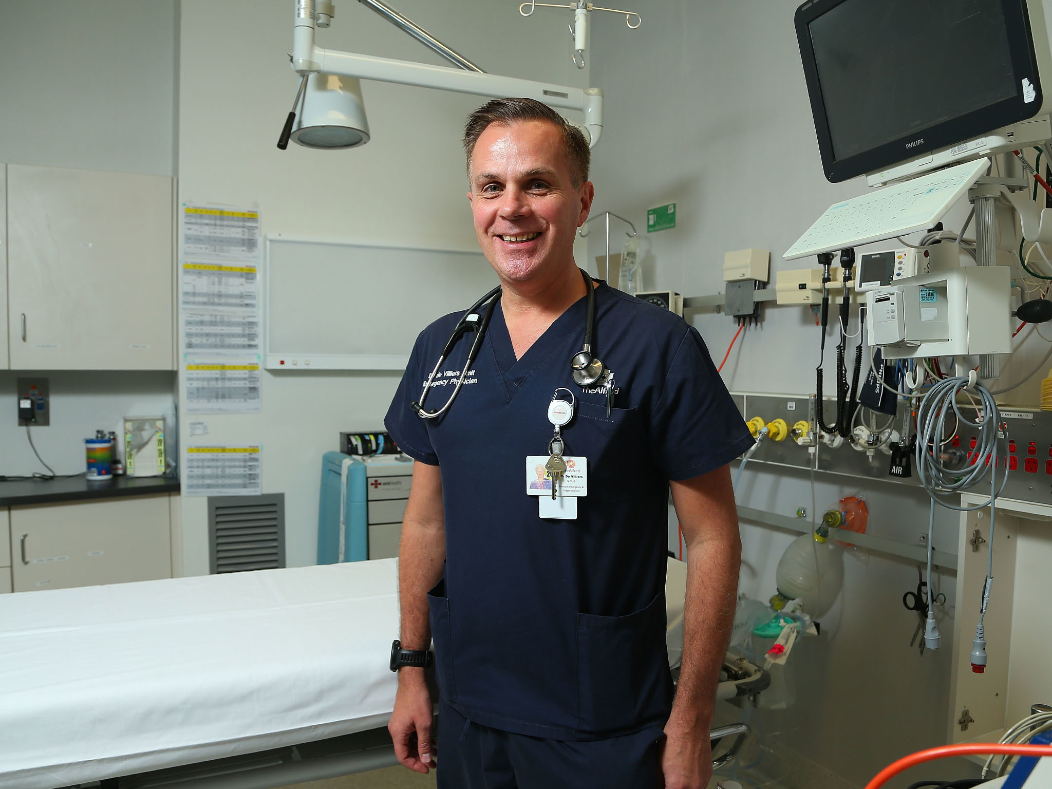 Dr De Villiers Smit at Alfred Hospital Emergency