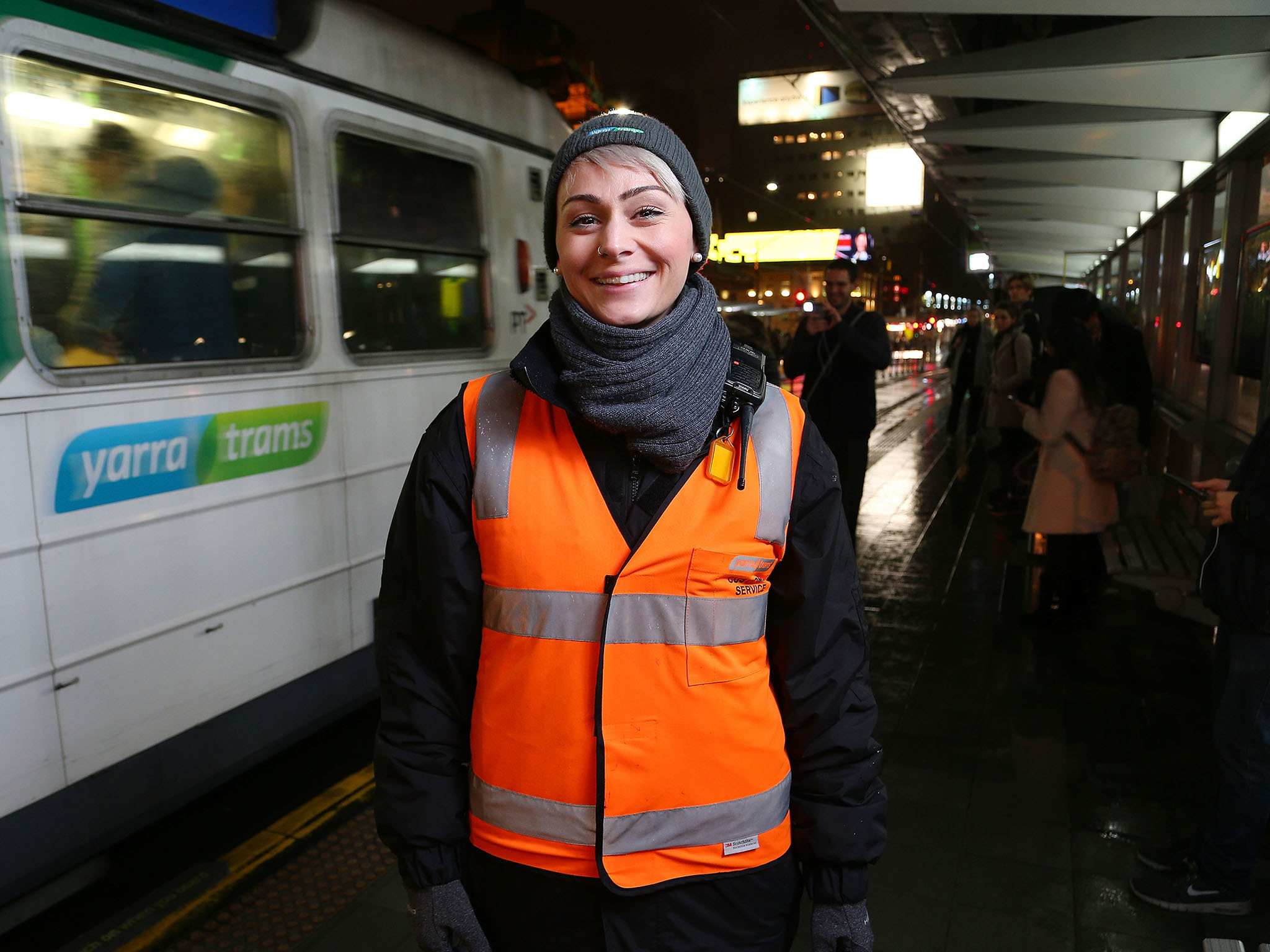 Stefanie Iverson at Yarra Trams
