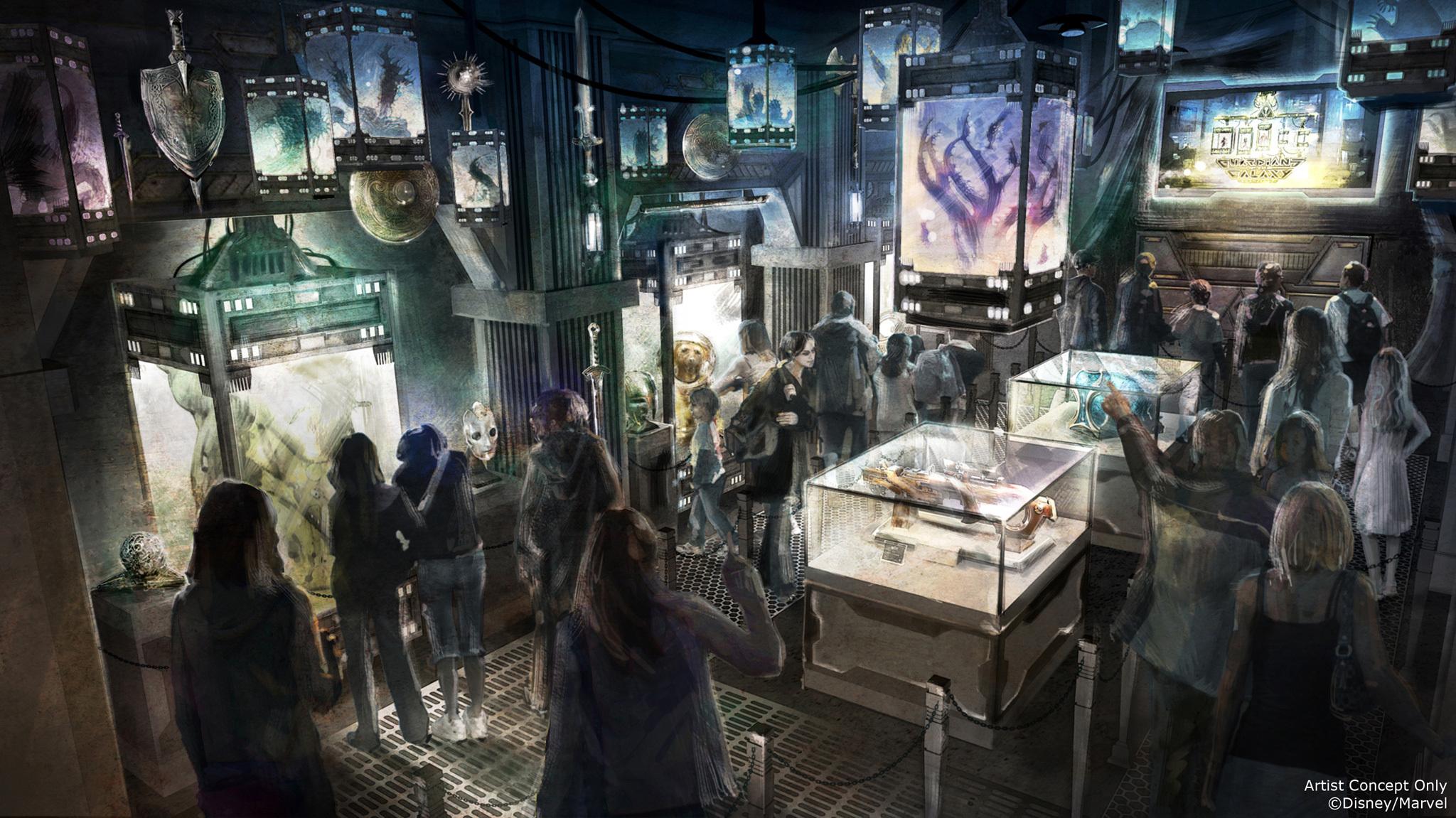 Atracción en Parque Tematico de Marvel Disney California