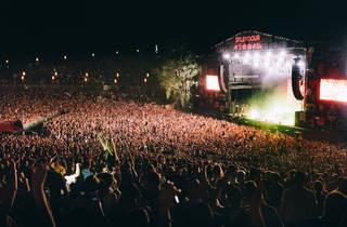 The crowds at Splendour in the Grass, watching Sticky Fingers