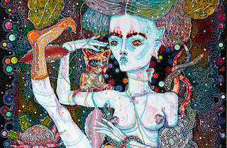 Del Kathryn Barton 2016 the cry of this body's occasion image courtesy Roslyn Oxley9 Gallery