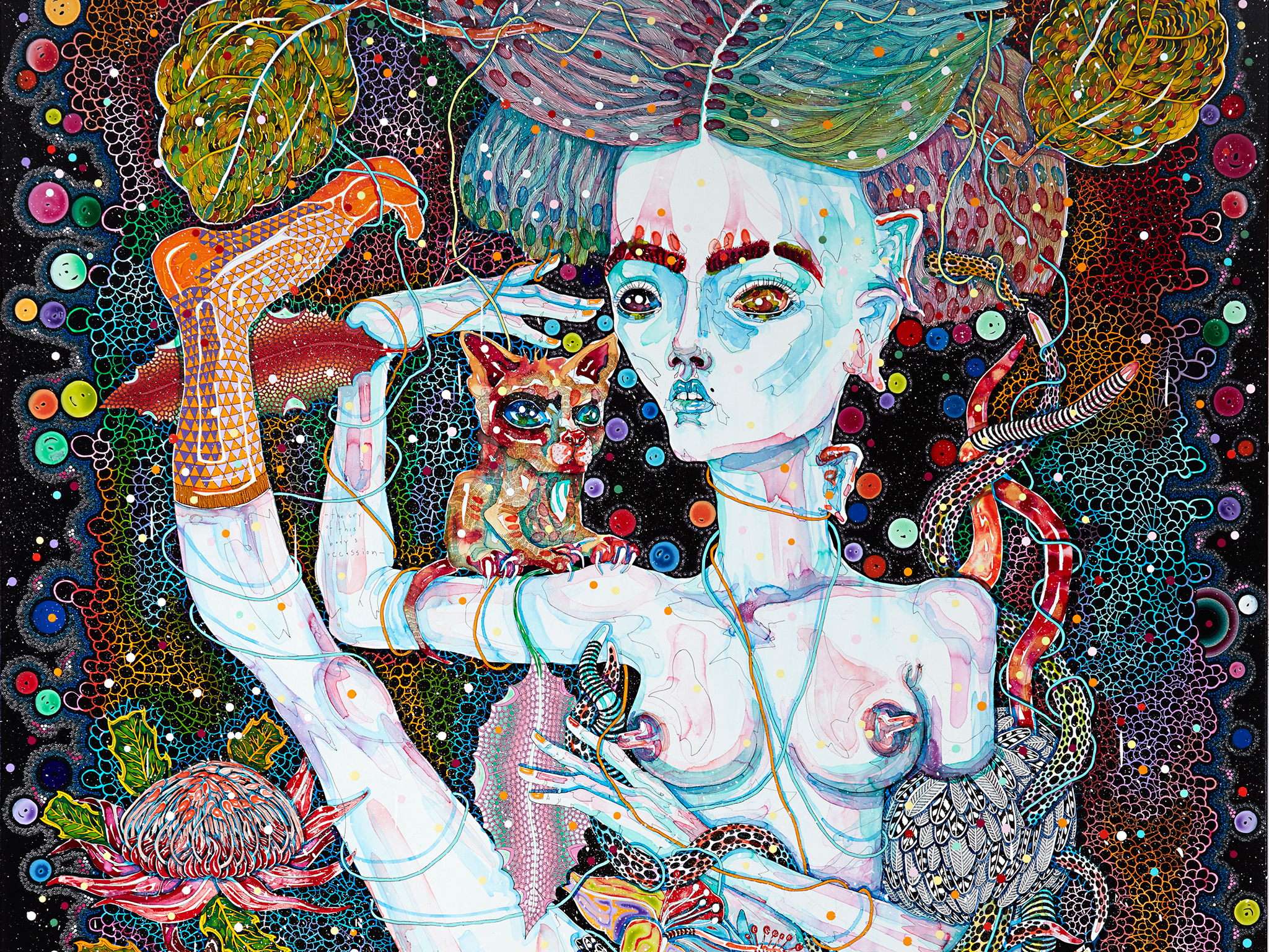 Del Kathryn Barton: Angel Dribble