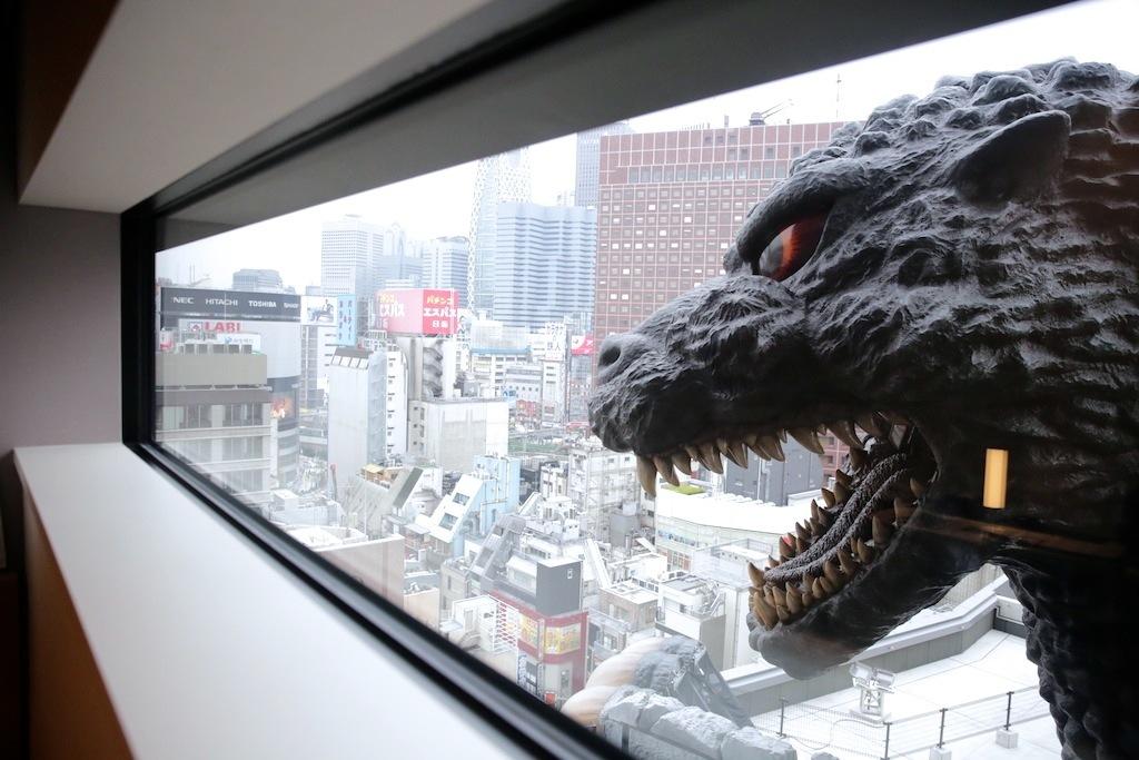 Watch a movie under Godzilla's watchful eye...