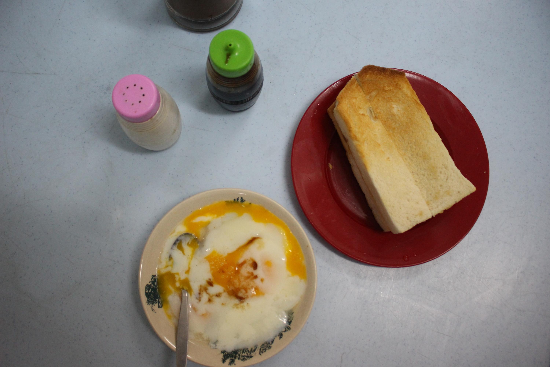 Kaya toast and soft-boiled eggs Onn Loke