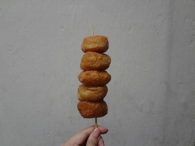 Dharma Realm Guan Yin Monastery canteen doughnut