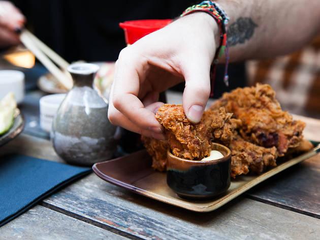 Karaage chicken at Goros