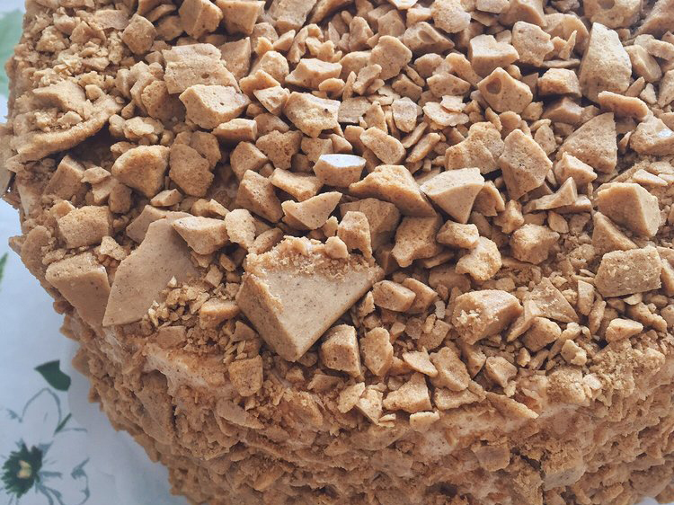 Coffee crunch cake at Yasukochi's Sweet Shop in San Francisco, CA