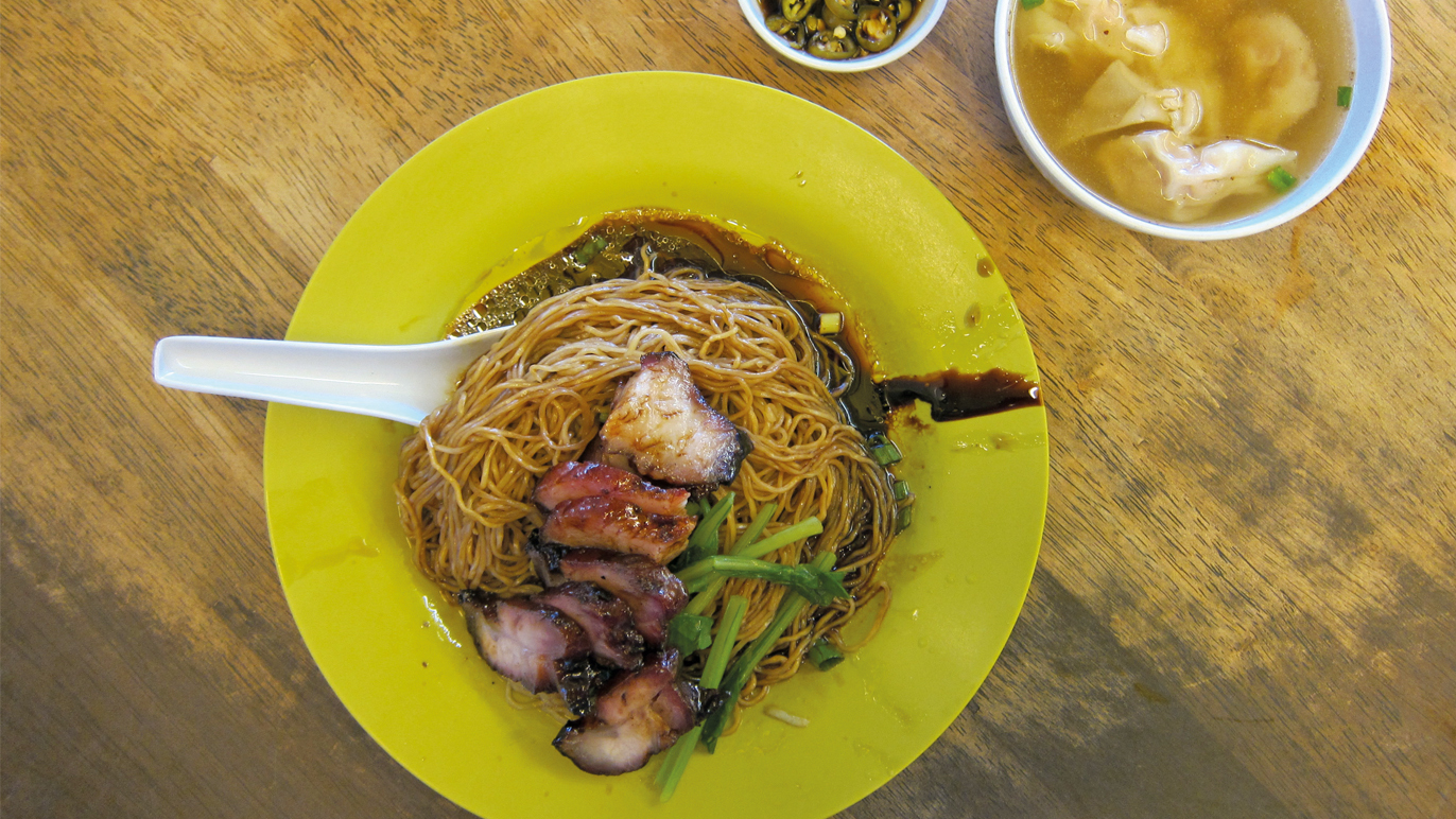 Char siu wantan mee at Hung Kee