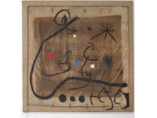 Dona voltada d'un vol d'ocells en la nit (1968), de Joan Miró