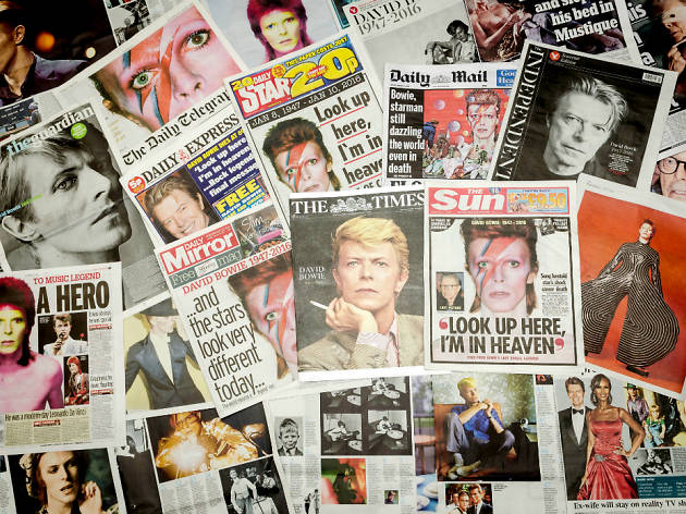 DO NOT REUSE Death of David Bowie newspaper headlines