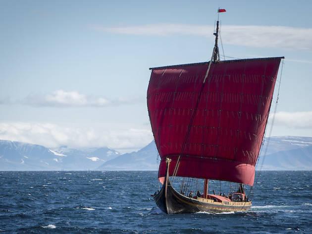 Climb aboard a Norwegian Viking boat at Navy Pier