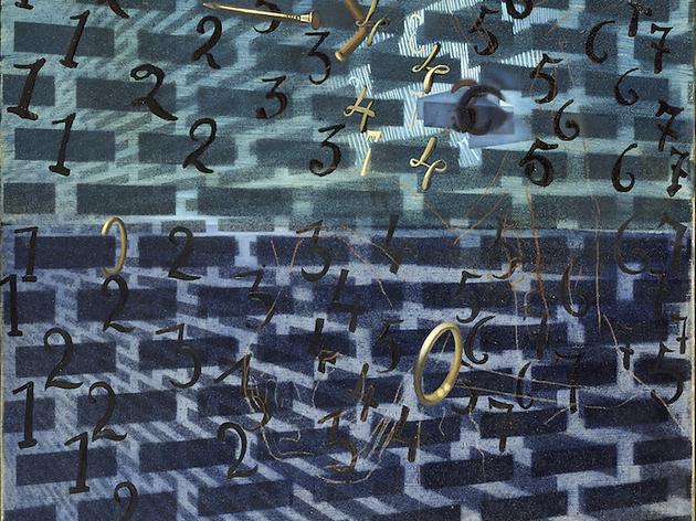 Doble imatge amb cavalls, números i claus