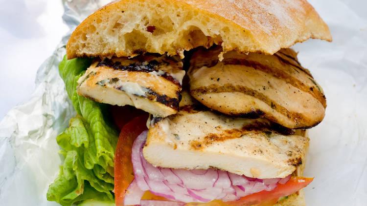 Balsamic grilled chicken sandwich, Friedman's Lunch