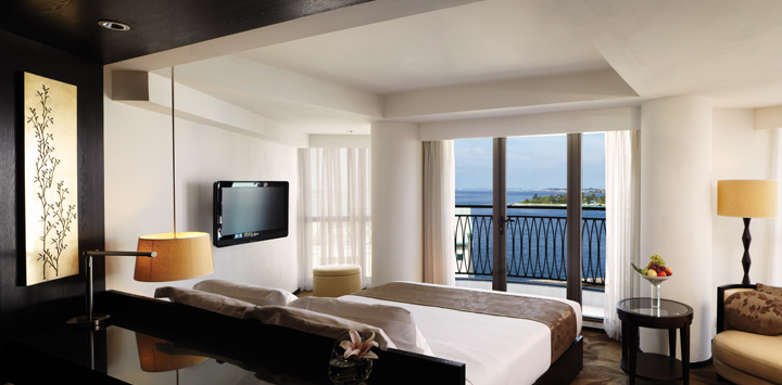Hotel room with sea view