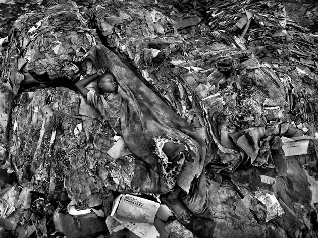 (Timothy Allen: Kibarani waste dump, Mombasa, Kenya. Winner, Best Single Image in Monochromal Portfolio, 2015)
