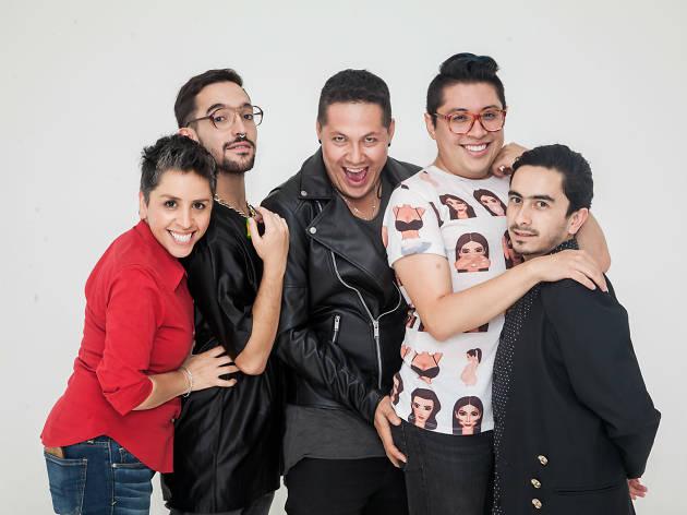 La Kikis, Pablo López, Hugo Blanquet, Manu Nna y Raúl Meneses, standuperos LGBTTTI en la CDMX