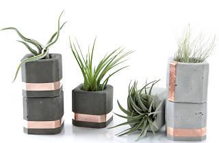 Pasinga concrete copper pot set