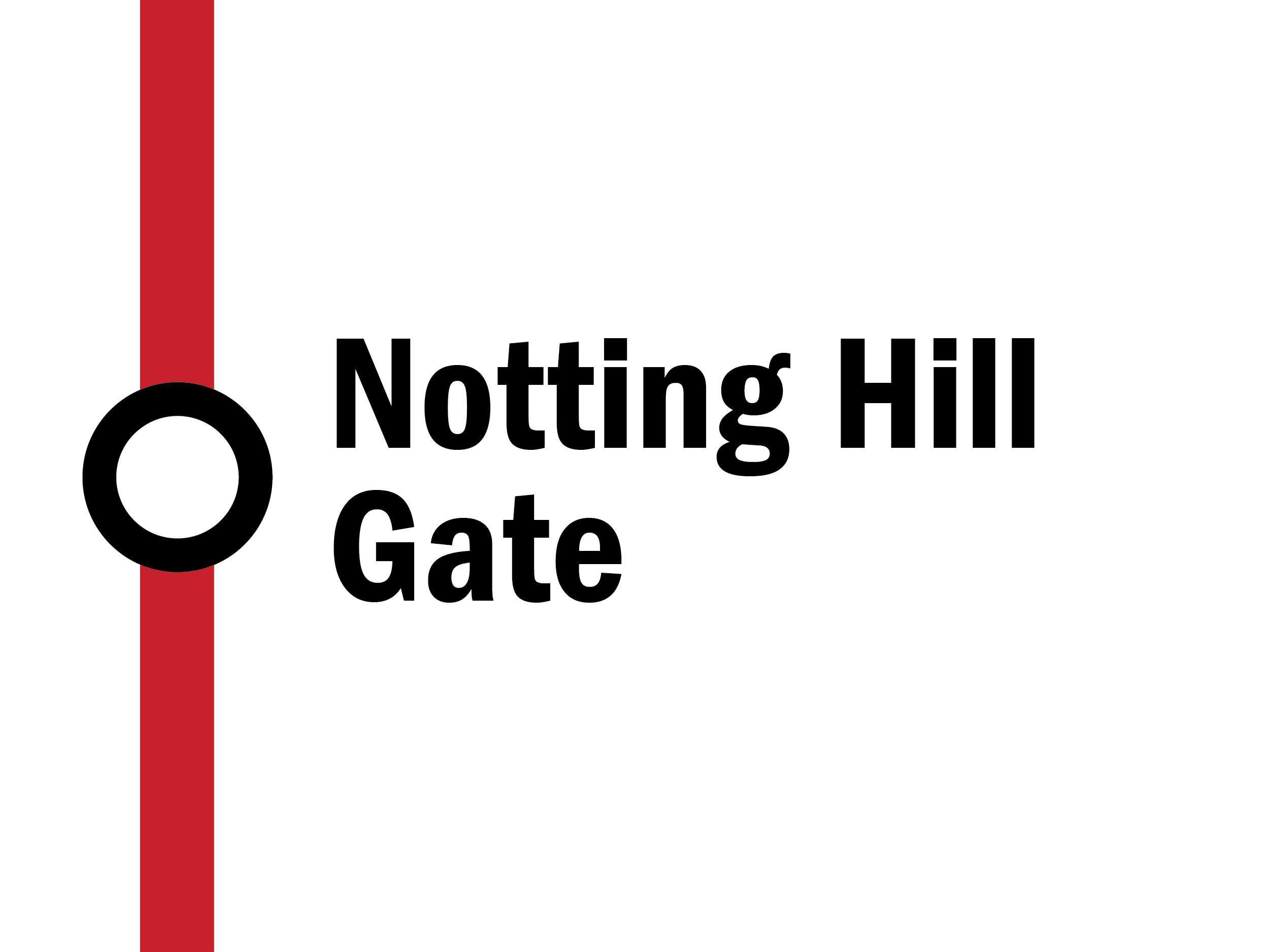 Night tube: Notting Hill Gate
