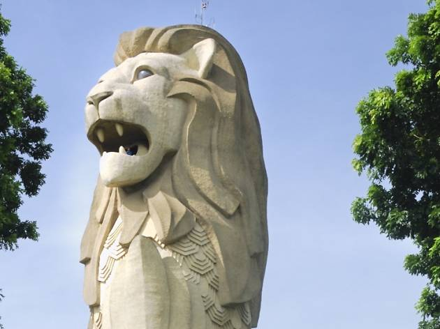 Where are the Merlions in Singapore?