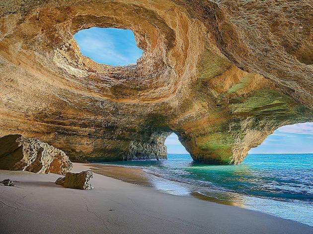 As melhores praias no Algarve