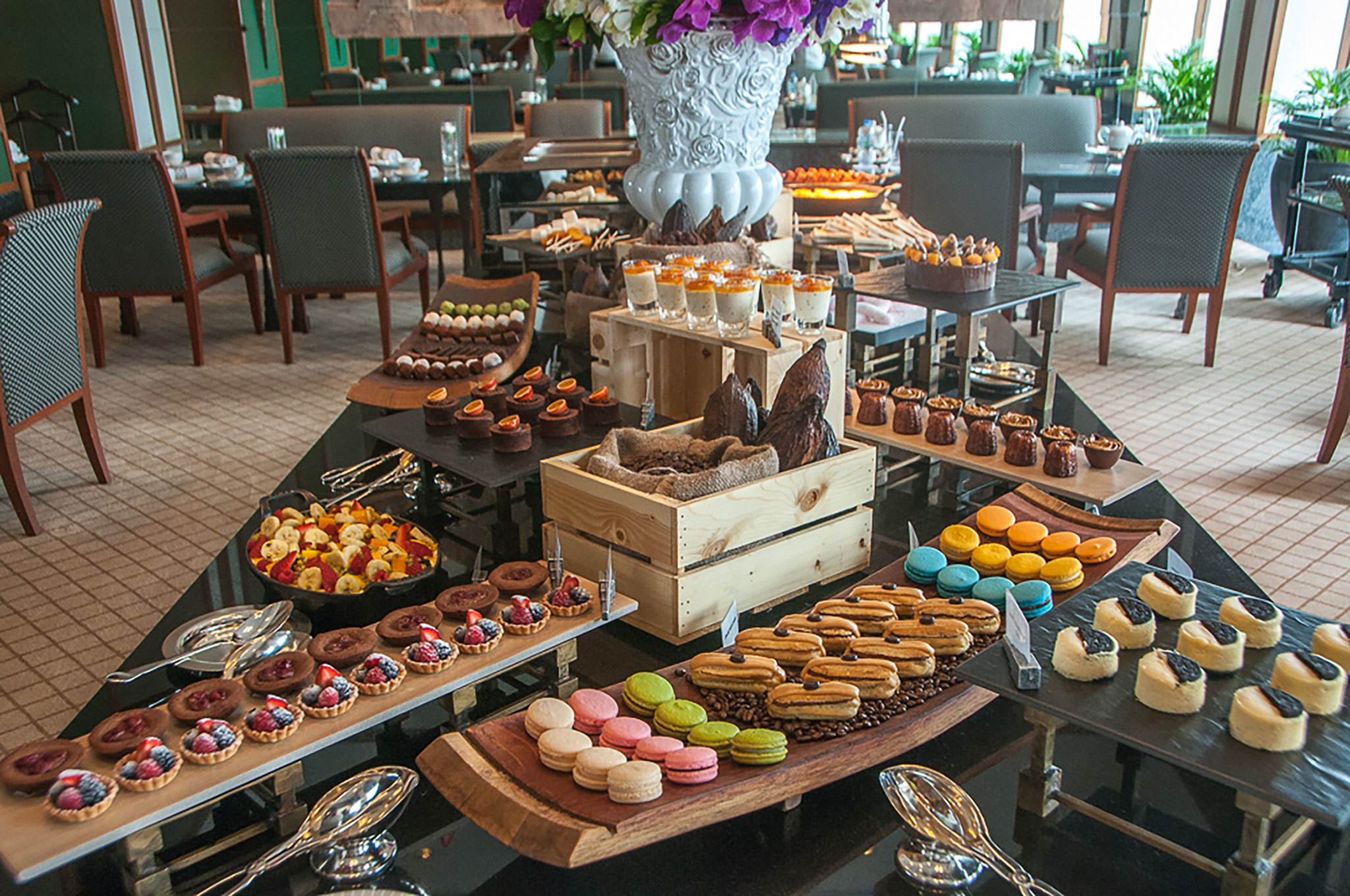 Bangkok S Best Afternoon Tea # Buffet Blanc Style New York