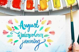The Artsy Craftsy watercolour jamming session