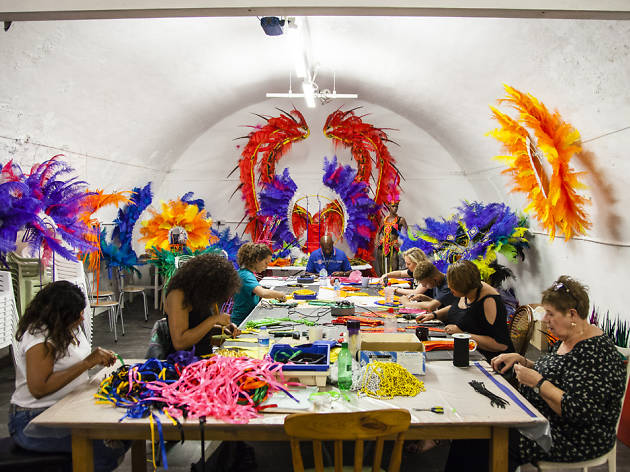 We feathered up for Notting Hill Carnival with the mas-making pros