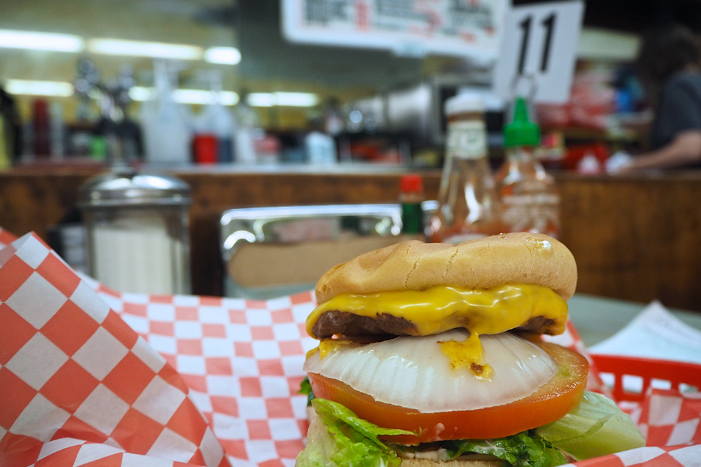 Cheeseburger at Nau's Enfield Pharmacy
