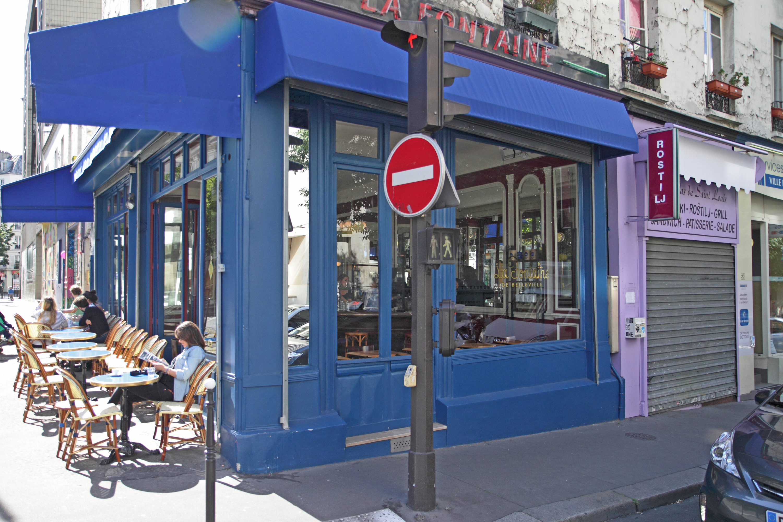 Café bistrot restaurant Fontaine de Belleville terrasse