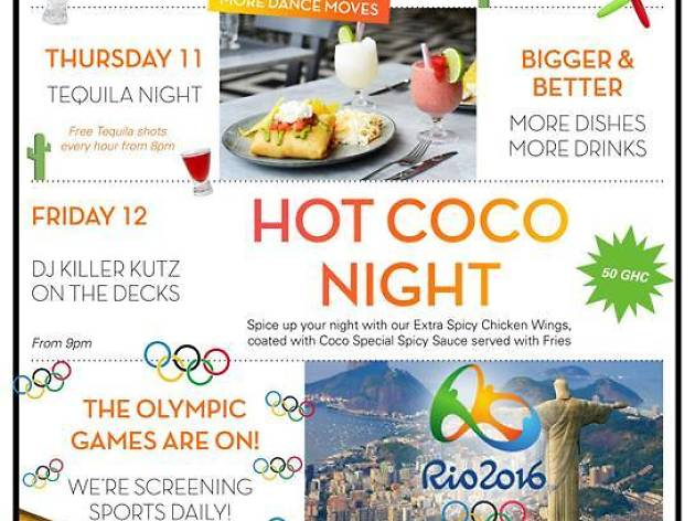 Weekend events at Coco Lounge