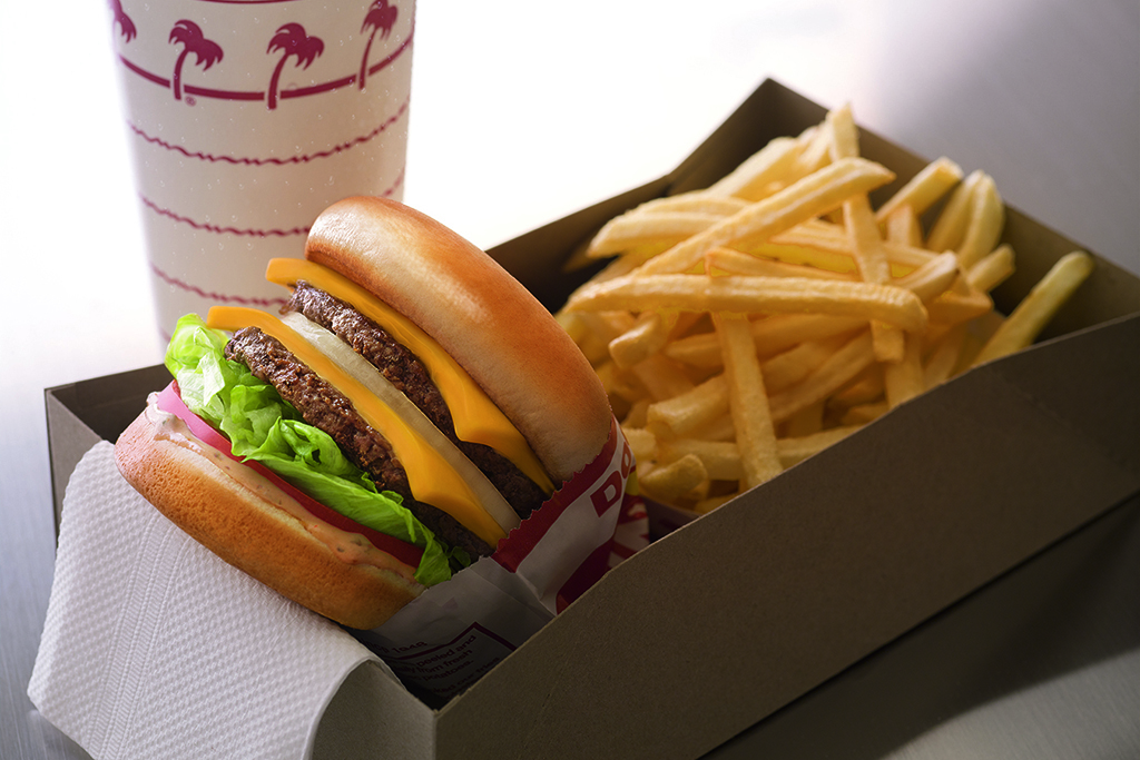 Animal style burger at In-N-Out in California and other western states