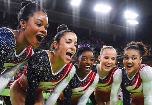 12 photos of the US Women's Gymnastics team