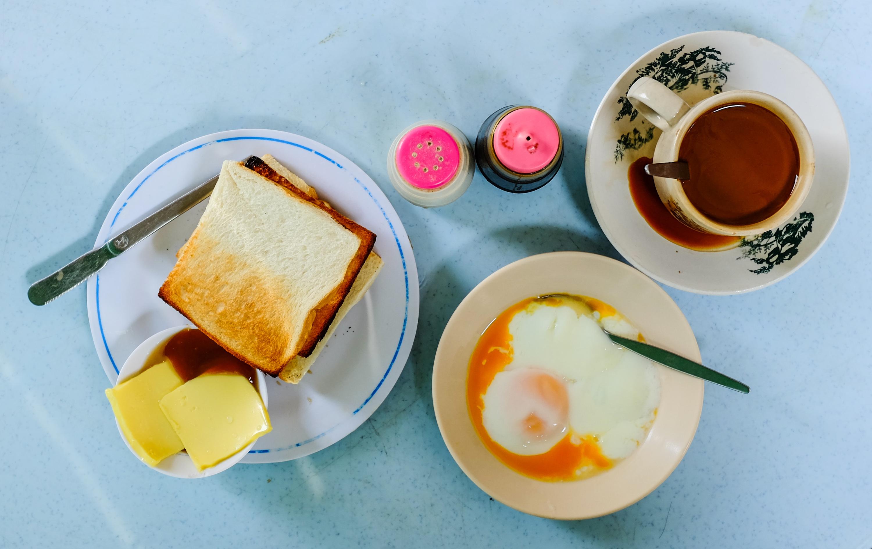 Eggs on toast at Kedai Kopi Taman Eng Ann