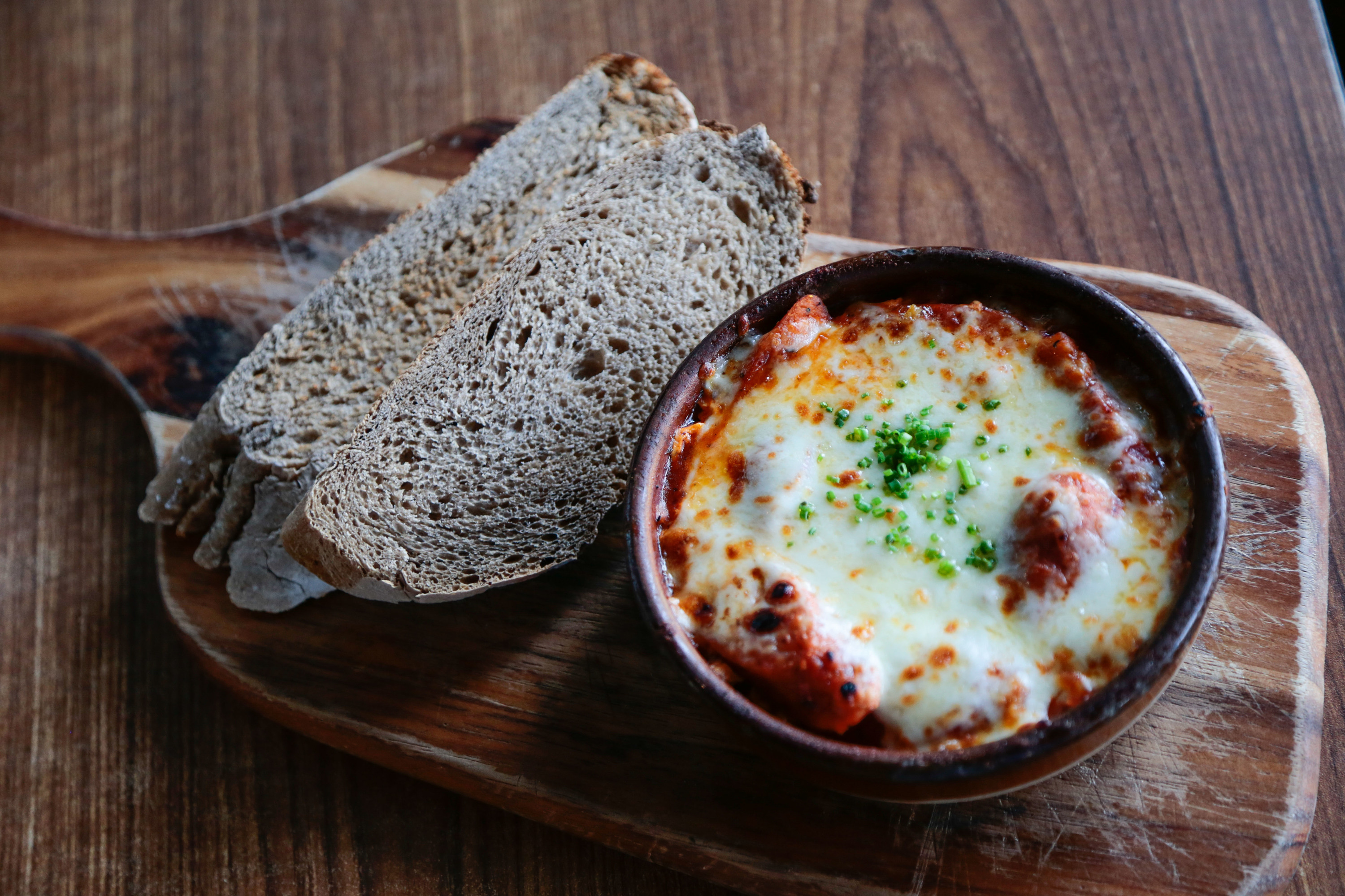Baked eggs at The Red Beanbag